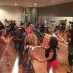 Learning to salsa at the Center for Creative Education (photo provided)
