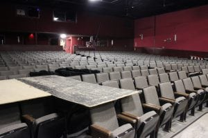 There are just under 400 seats at the Falls Theatre. (Photo by A. Rooney)