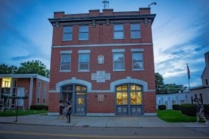 The Mase Hook & Ladder Co. in Beacon, built in 1911, at 425 Main St. has features of Federalist and New York Gothic Revival style.