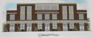 The original plans for the Roger Ailes Senior Center in Building 2 of the Butterfield development.