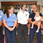 Sambolin, Pagliaro, Zingone, dispatcher Reinheimer with Aubrey, and Arrigo (photo provided).
