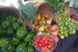 Septemberisacolorfulmonthatthe farmers' market. (Photo by M. Turton)