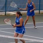 Alii Sharpley and Hali Traina against Beacon at the Haldane courts on Sept. 26. (Photo by Anita Peltonen)