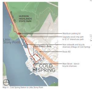 Detail from the preliminary draft master plan for the Fjord Trail
