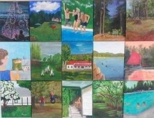 PaintingsbymembersoftheThursdayclubwillbeondisplayattheHowlandPublicLibrary