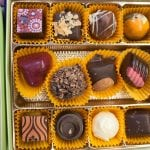 Chocolates on display at The Chocolate Expo (Photo by Chuck Fishman)