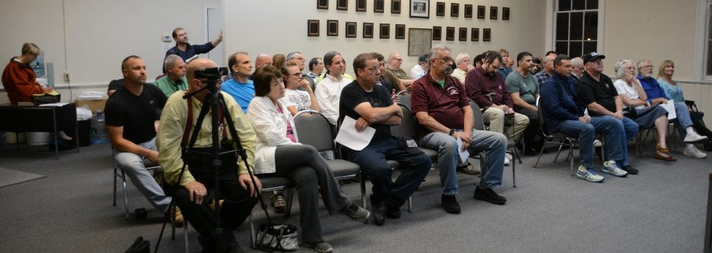 The audience at the Town Board workshop on Oct. 19 (Photo by L.S. Armstrong)