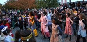 The Thriller flash mob at the bandstand after the 2015 Halloween parade (Photo by Maggie Benmour)