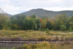 The rail line offers scenic views of Mount Beacon and the Hudson Highlands. (Photo by M. Turton)