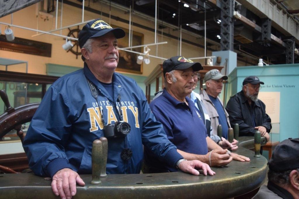 TomKIvel,SteveMerando,TerryLahey,RayJonesandSteveEttaattheU.S.NavyMuseuminWashington,D.C.,onSept.29(PhotobyM.Turton)