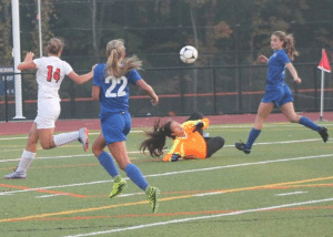 The Haldane girl's varsity soccer team traveled to Briarcliff on Oct. 13. The game ended in a 0-0 tie. (Photo by Donna Pidala)