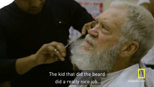In the first episode of Season 2, David Letterman gets his beard trimmed at a barber shop in New Delhi and also discusses his love affair with solar power.