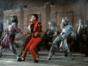 A scene from Michael Jackson's Thriller video