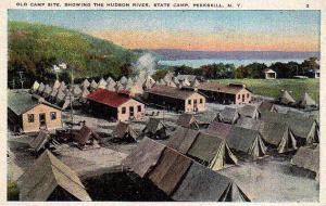 An antique postcard of Camp Smith.