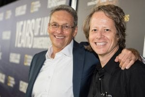David Gelber and co-creator Joel Bach at the premiere in September. (Photo provided)
