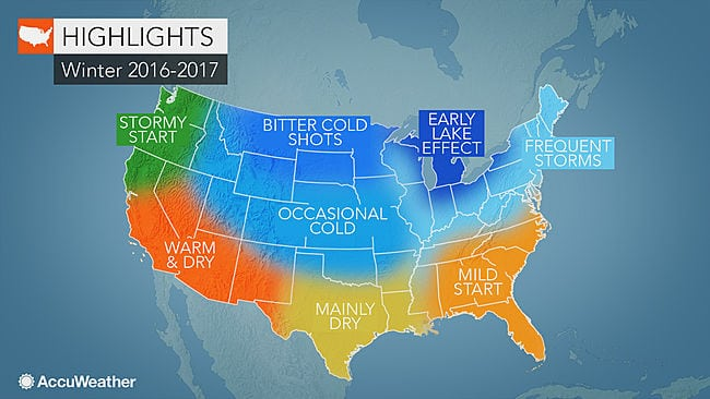 AccuWeather's forecast for the coming winter