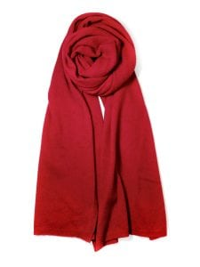 A cashmere scarf with cochineal natural dye by Colorant (photo provided)