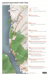 The proposed route of the Fjord Trail (click to enlarge)