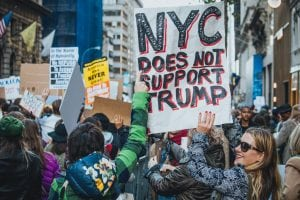 An anti-Trump protest in New York City on Nov. 12 (Photo by Mathias Wasik/Flickr)