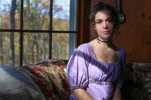Josie Altucher portrays Miss Elizabeth Bennet  (Photo by Jim Mechalakos)