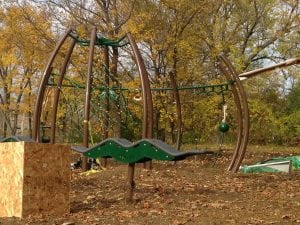 Playground improvements at South Avenue Park (photo by J. Simms)