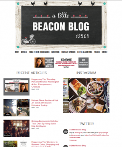 A recent home page of A Little Beacon Blog