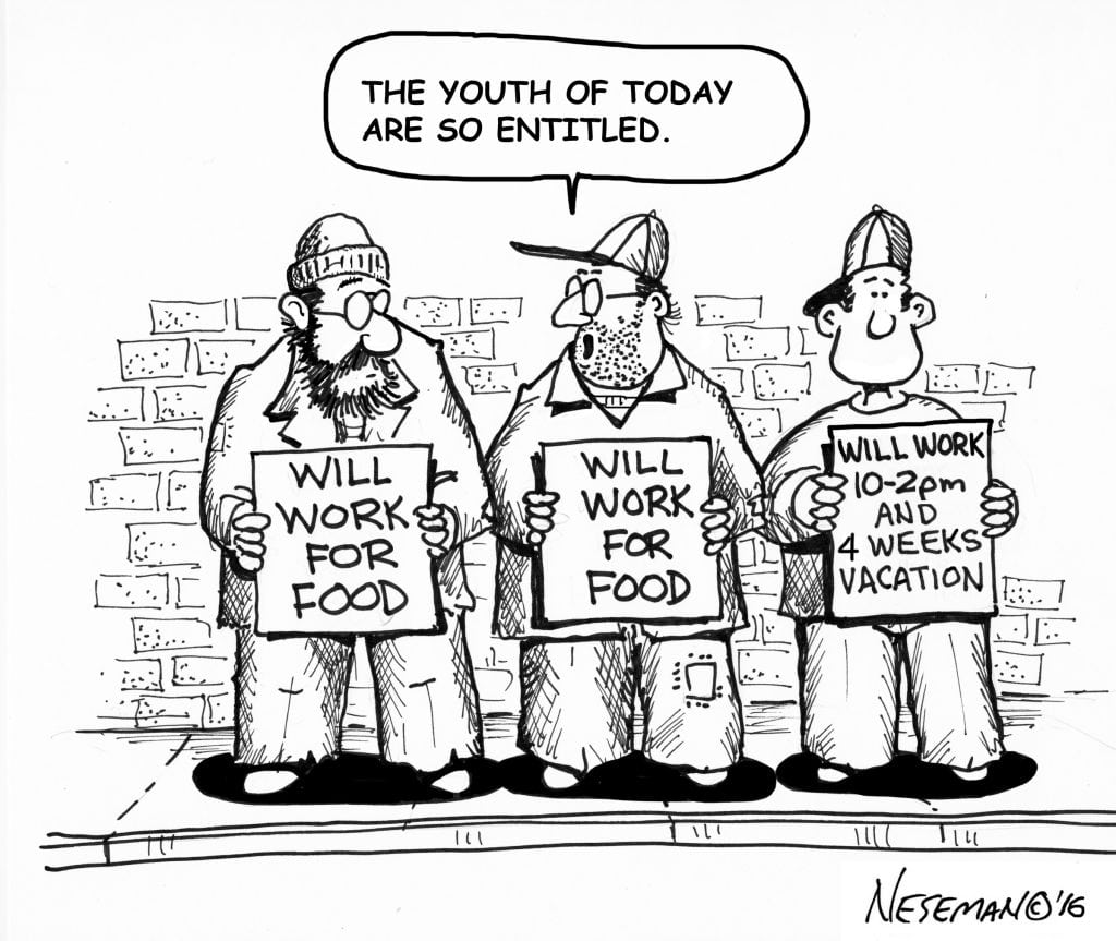 entitled cartoon