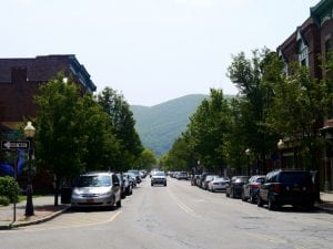Main Street, Beacon, looking east (Photo by J. Simms)
