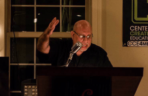 Tony Pena reading his work (Photo by Christopher Wheeling)
