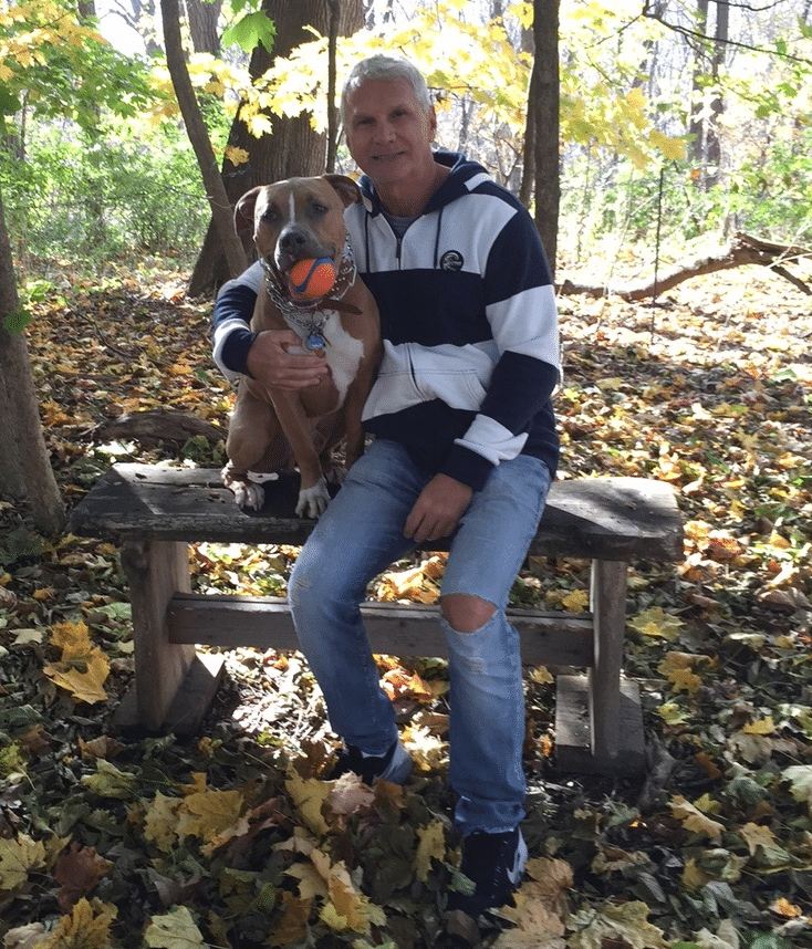 Dominic Viola hiking at Bear Mountain with his dog, Dexter (Photo provided)