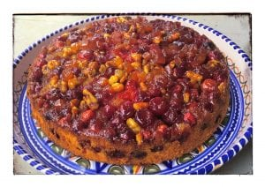 Cranberry upside-down cake (Photo by J. Dizney)