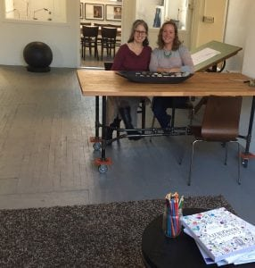 Drena Fagen and Dana Whiddon in Create Community's shared workspace (Photo provided)