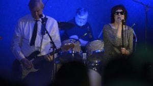 The Blondie band from Beacon Music Factory, featuring John Allison of Cold Spring on guitar and Sommer Hixson of Beacon as Debbie Harry. (Photo provided)