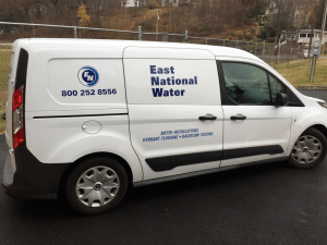 East National Water vans will be a familiar sight around the village as digital meters are installed. (Photo provided)