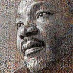 "This image of Martin Luther King Jr. was constructed by an anonymous artist with profile photos of people who had tweeted the words, ""I'm not racist, but ..."""