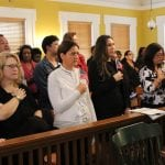 A group of new citizens during a naturalization ceremony at the Putnam County Courthouse in 2015 (County photo)