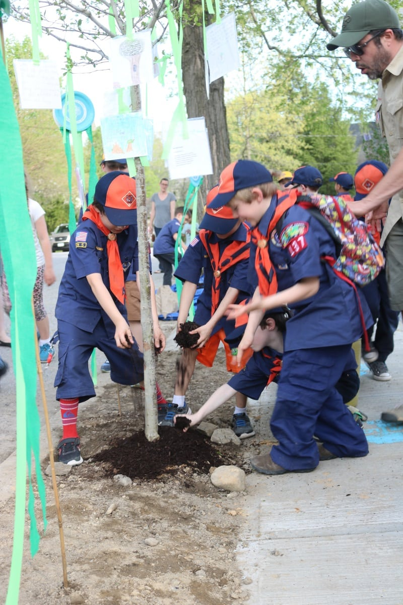 Arbor Day Mulching 2