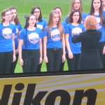 Haldane Blue Notes Sing National Anthem (Video)