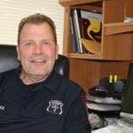 Officer-in-Charge Larry Burke (Photo by M. Turton)