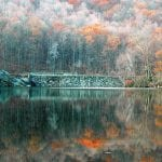 Cold Spring's Upper Reservoir dam in autumn (File photo by L.S. Armstrong)