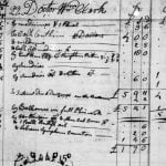 An entry for Dr. William Clark in a ledger kept by Dr. Elias Cornelius
