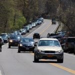 Summer traffic near a Breakneck trailhead 	(File photo by Michael Turton)