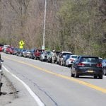 Even in April, weekend parking was at a premium near Little Stony Point Park. (File photo by M. Turton)