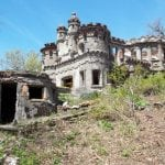 BEFORE - The Bannerman Island residence is shown as it appeared before renovations to stabilize it (Photo by Thom Johnson)