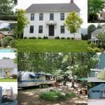 A selection of homes available for rent on Airbnb, clockwise from top left: Chestnut Street; a home owned by Philipstown Supervisor Richard Shea; Church Street; behind Foodtown; Nelsonville; an apartment apparently offered by Cold Spring Trustee Steve Voloto; an Airstream in Philipstown; the Bluehaus on Market Street; Whitehill Place; and a Cold Spring estate for $1,500 a night