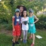 River of Words judge Irene O'Garden with Haldane Elementary poets Saminah Scherer, Violeta Edwards-Salas and Allie Cairns (Photo provided)