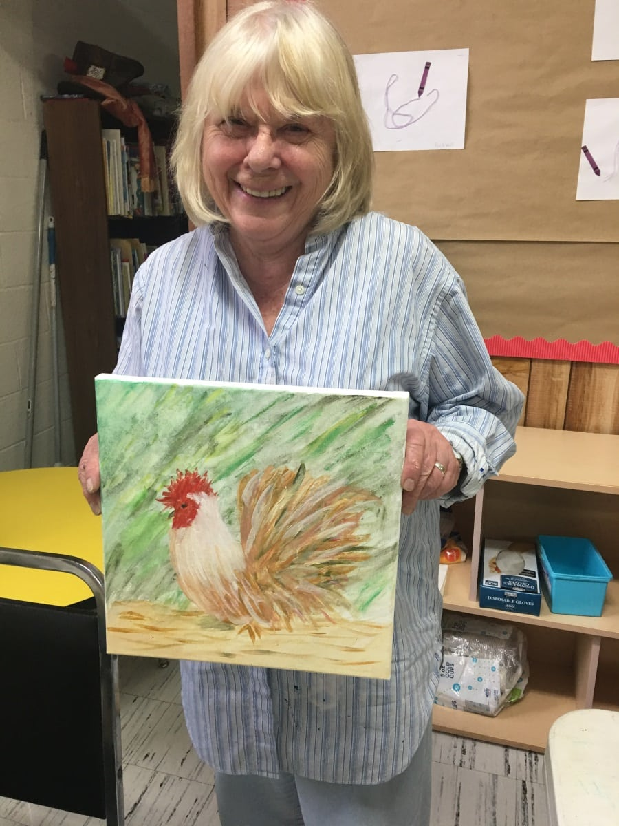 Seniors Chickens Mary Tomassio