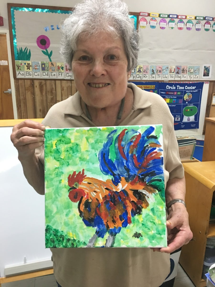 Seniors Chickens Yvonne Boston