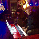 Bert Rechtschaffer at the piano, with Lou Pappas on bass, at Chill Wine Bar (Photo provided)
