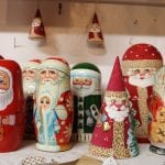 Santa Claus nesting dolls (Photo by M. Turton)